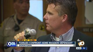 Families confront home invasion defendant - Video