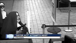 Women dressed as nuns try to rob bank - Video