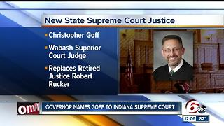 Gov. Holcomb chooses Ind. Supreme Court justice, 2015 letter shows insight into career - Video