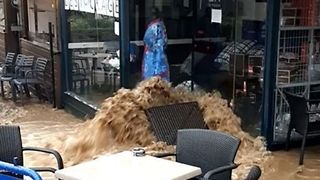 Shops and Cars Destroyed in Brittany Flooding - Video
