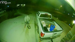 Check This Out: Would-be thief gets a wet surprise
