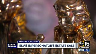 Elvis impersonator's collection up for auction - Video