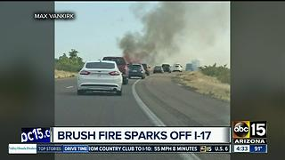 Brush fire shuts down I-17 Sunday