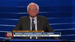 Bernie Sanders to hold rally in Tampa Friday to campaign with gubernatorial candidate Andrew Gillum