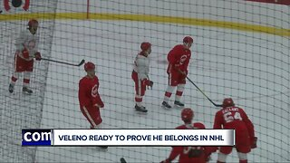 Joe Veleno sets sights high with Red Wings