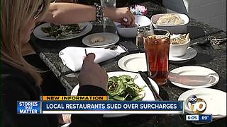 Local restaurants sued over surcharges - Video