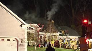 Brecksville house fire - Video