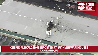 Chemical explosion reported at Ruthven Warehouse in Lakeland - Video