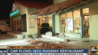 UPDATE: Driver plows through Phoenix restaurant - Video