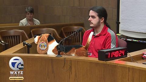 Plush dog brought out in court hearing for MSU health physicist charged with bestiality