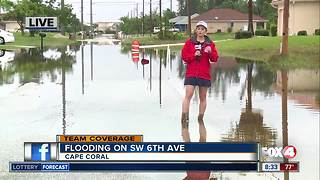 Rains cause road flooding in Cape Coral - Video
