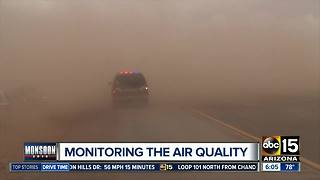Officials monitoring air quality amid dust storms