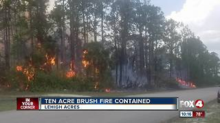 Brush fire in Lehigh Acres - Video