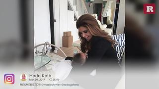 The sweet moment Maria Shriver met Hoda Kotb's baby | Rare People - Video