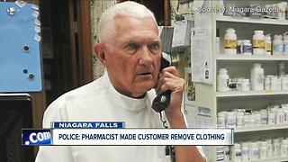 Police say pharmacist made customer remove clothes - Video