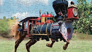 """Artist Creates Mind-bending, Surreal Montages From The """"Trillions"""" Of Possible Ways To Combine Two Jigsaws Into One"""