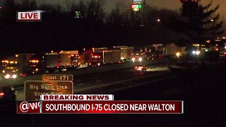 Semi crash closes southbound Interstate 75 in Walton