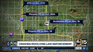 Departments looking into recent officer-involved crashes - Video