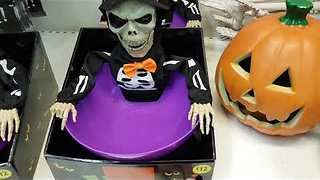 Guy Has Great Fun With Spooky Halloween Candy Bowl - Video