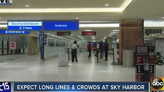 Long lines expected to pick up as the busiest travel weekend of the year kicks off - Video