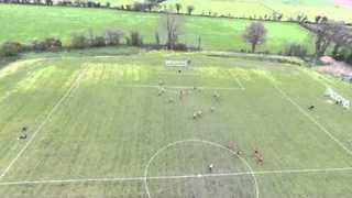 Drone Footage Shows Incredible Free Kick by Irish Amateur Soccer Team
