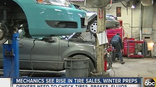 Spike in tire sales ahead of the winter months - Video