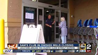 Owings Mills Sam's Club closes without warning - Video