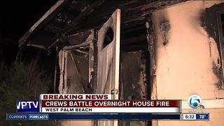 Fire damages West Palm Beach house - Video