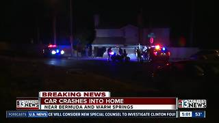 Car crashes into home | Breaking News - Video
