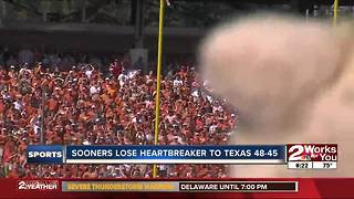 #7 Oklahoma upset by Texas, 48-45 in highest-scoring Red River Showdown ever - Video