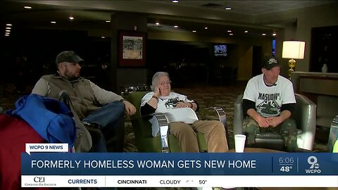 Formerly homeless woman gets new home