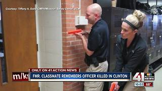 Friends remember fallen Clinton officer