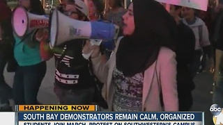 South Bay demonstrators remain calm, organized - Video
