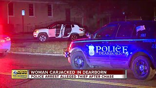 Police arrest alleged carjacker after chase in Dearborn