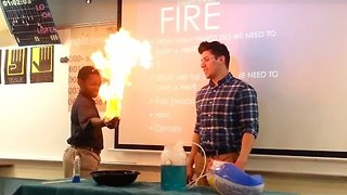 Science Teacher Sets Student's Hand on Fire - Video