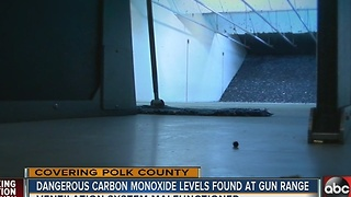 Shooters suffer CO poisoning on gun range - Video