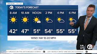 Metro Detroit Forecast: Cool and breezy; a few afternoon showers