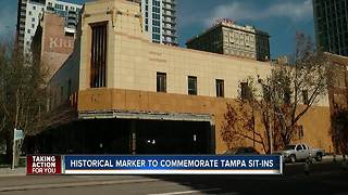 Historical marker to commemorate Tampa Civil Rights sit-ins