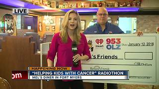 Helping Kids with Cancer Radiothon at Mel's Diner