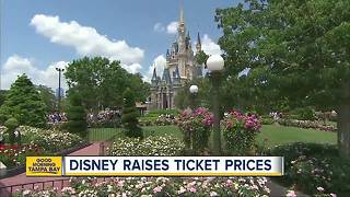 Disney increases ticket prices for its Florida and California theme parks - Video