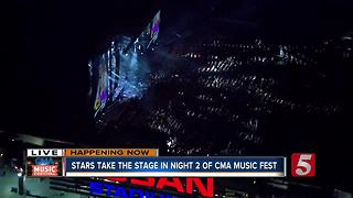 Stars Take The Stage In Night 2 Of CMA Music Fest - Video