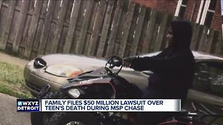 Family files $50 million lawsuit over teen's death during MSP chase - Video