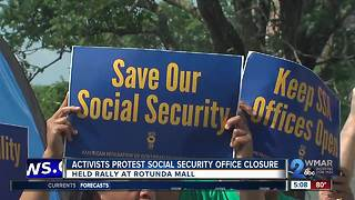 Activists protest closure of Social Security office - Video