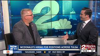McDonald's hiring for positions across Tulsa - Video