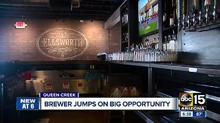Queen Creek brewer jumps on big opportunity - Video