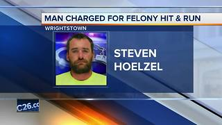 Man charged with felony hit and run - Video