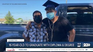 16-Year-Old Delano student to graduate with a diploma and a degree