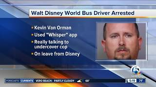 Walt Disney World bus driver arrested - Video