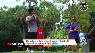 Should parents let their boys play football? - Video