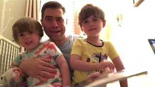 Dad Composes Bed Time Rap Story - Video